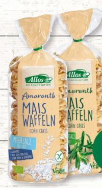 Bio-Amaranth-Maiswaffeln von Allos