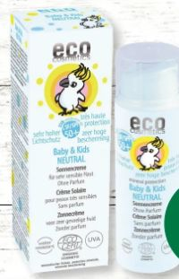 Baby & Kids Vegane Sonnencreme LF 50+ von Eco Cosmetics