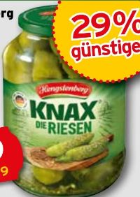 Knax Die Riesen Gewürzgurken von Hengstenberg