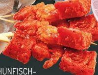 Thunfischfilet-Garnelen-Spiess