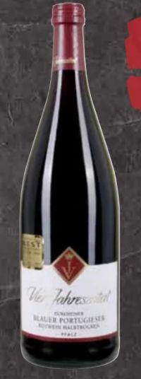 Pfalz  Dürkheimer blauer Portugieser Rotwein von Vier Jahreszeiten
