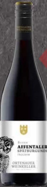 Baden Affentaler Spätburgunder Rotwein von Ortenauer Weinkeller