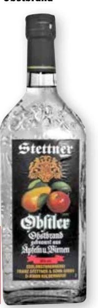 Obstler Obstbrand von Stettner