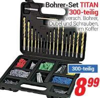 Bohrer-Set Titan 300-tlg.