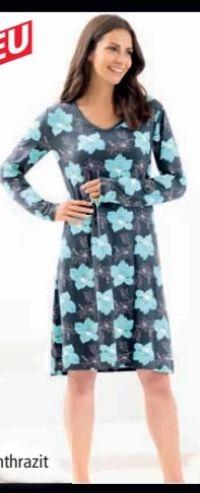 Damen Langarm Nachthemd von ElleNor