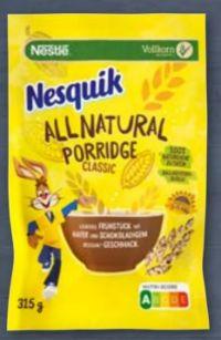 Nesquik All Natural Porridge von Nestlé