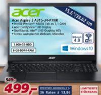 Notebook Aspire 3 A315-34-P7NR von Acer