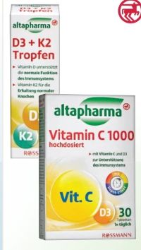 Vitamin D3 + K2 Tropfen von Altapharma