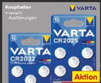 Knopfzellen von Varta