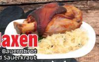 Haxen mit Bauernbrot und Sauerkraut von Edeka